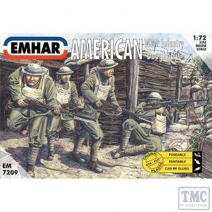 PKEM7209 Emhar 1:72 Scale American WWI Infantry 'Doughboys'