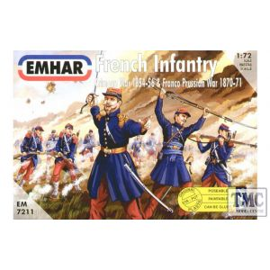 PKEM7211 Emhar 1:72 Scale French Infantry