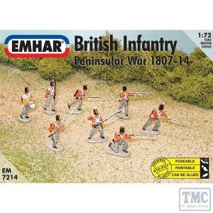 PKEM7214 Emhar 1:72 Scale British Infantry - Peninsular War