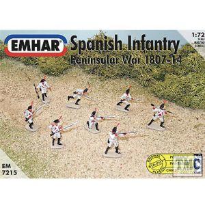 PKEM7215 Emhar 1:72 Scale Spanish Infantry - Peninsular War