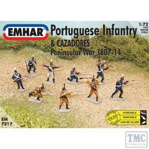 PKEM7217 Emhar 1:72 Scale Portuguese Infantry & Cazadores