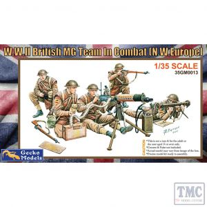 PKGE350013 Gecko 1:35 Scale WWII British MG Team in Combat (NW Europe)