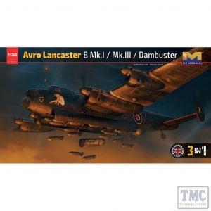 PKHK01E12 HK Models 1:32 Scale Avro Lancaster B Mk I / Mk III / Dambuster 3 in 1