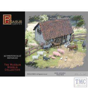 PKPG7052 Pegasus 1:72 Scale Farm Animals