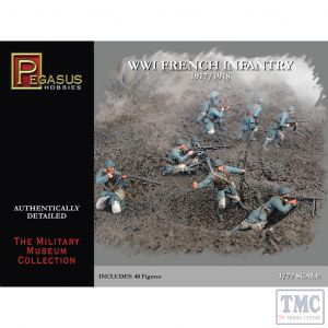 PKPG7199 Pegasus 1:72 Scale French WWI Infantry