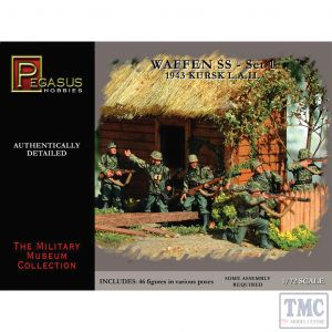 PKPG7201 Pegasus 1:72 Scale Waffen SS 1943 WWII Germans Set 1