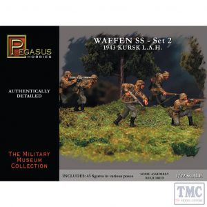 PKPG7202 Pegasus 1:72 Scale Waffen SS 1943 WWII Germans Set 2