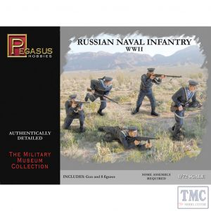 PKPG7270 Pegasus 1:72 Scale Russian Naval Infantry WWII