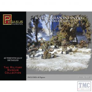 PKPG7271 Pegasus 1:72 Scale WWII Russian Infantry in Greatcoats