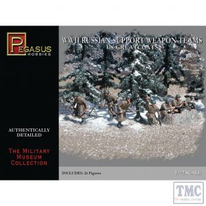PKPG7274 Pegasus 1:72 Scale WWII Russian Support Weapons Teams in Greatcoats