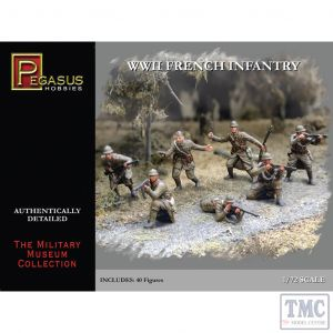 PKPG7306 Pegasus 1:72 Scale French WWII Infantry