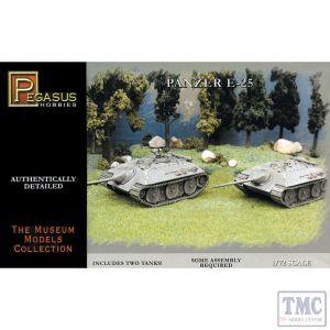 PKPG7602 Pegasus 1:72 Scale E-25 German Tank (2 per box)