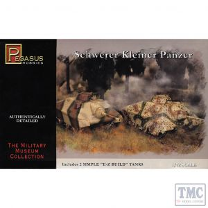 PKPG7605 Pegasus 1:72 Scale Schwerer Kleiner Panzer (2 per box)