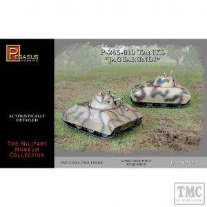 PKPG7606 Pegasus 1:72 Scale Jaguarundi WWII Experimental Tanks (2 per box)
