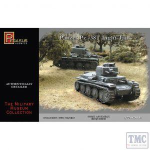 PKPG7620 Pegasus 1:72 Scale Pz38t German Tanks (2 per box)