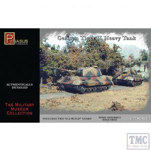 PKPG7627 Pegasus 1:72 Scale German Tiger II Heavy Tank ( 2 per box)