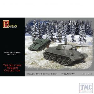 PKPG7661 Pegasus 1:72 Scale T-34/76 (2 per box)