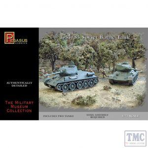 PKPG7662 Pegasus 1:72 Scale T-34/85 (2 per box)