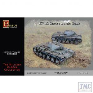 PKPG7667 Pegasus 1:72 Scale KV-1S Soviet Battle Tanks (2 per box)