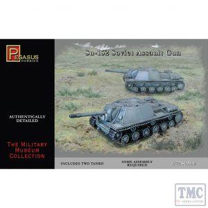 PKPG7668 Pegasus 1:72 Scale Su-152 Soviet Assault Guns (2 per box)