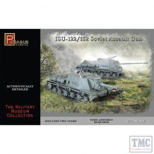 PKPG7670 Pegasus 1:72 Scale ISU-122/152 (2 per box)