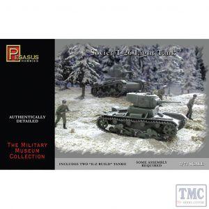 PKPG7671 Pegasus 1:72 Scale T-26 (2 per box)