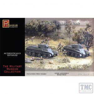 PKPG7673 Pegasus 1:72 Scale BT-7 Light Tanks (2 per box)