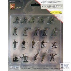PKPG7851 Pegasus 1:72 Scale WWII Russian Infantry Winter Dress