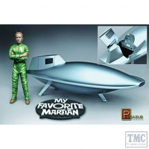 PKPG9912 Pegasus 1:18 Scale My Favorite Martian Uncle Martin Figure & Spaceship Pre-Blt