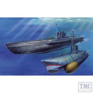 PKSE73504 AFV Club 1:350 Scale U-Boat Type 7/C41