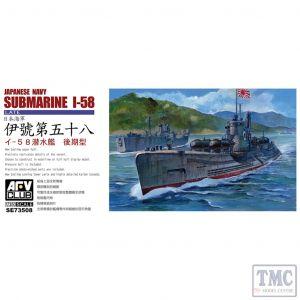 PKSE73508 AFV Club 1:350 Scale Japanese Navy I-58 Submarine (Late Type)