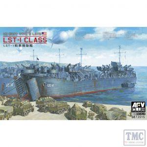 PKSE73515 AFV Club 1:350 Scale US Navy LST-1 Class WW2 Landing Ship, Tank