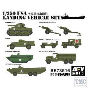 PKSE73516 AFV Club 1:350 Scale USA Landing Vehicle Set