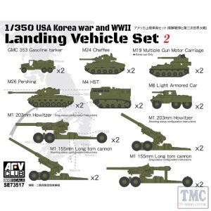 PKSE73517 AFV Club 1:350 Scale USA Landing Vehicle Set 2