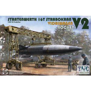 PKTAK02123 Takom 1:35 Scale Stratenwerth 16t Strabokran 1944/45 Production w/ V-2 Rocket