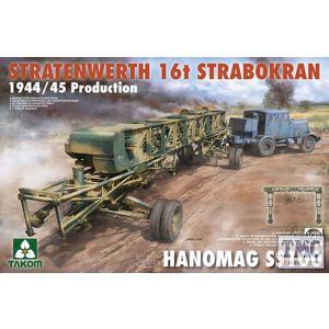 PKTAK02124 Takom 1:35 Scale Stratenwerth 16t Strabokran 1944/45 Production w/ Hanomag SS