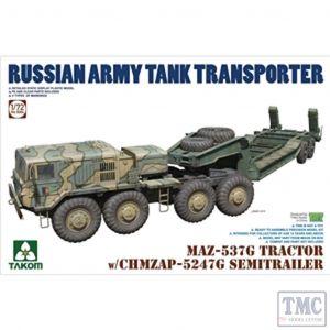 PKTAK05004 Takom 1:72 Scale MAZ-537G Tractor w/CHMZAP-5247G Semi-trailer