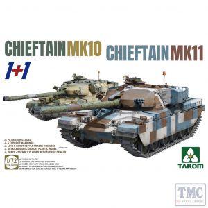 PKTAK05006 Takom 1:72 Scale Chieftain Mk 10 / Chieftain Mk 11 1+1
