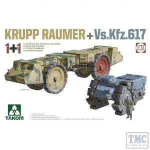 PKTAK05007 Takom 1:72 Scale Krupp Raumer + VsKfz 617 1+1