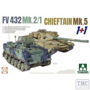 PKTAK05008 Takom 1:72 Scale FV432 Mk 2/1 & Chieftain Mk 5 1+1