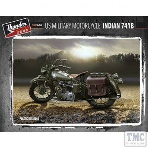 PKTHU35003 Thunder 1:35 Scale US Military Motorcycle Indian 741B