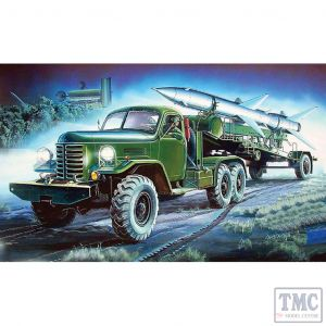 PKTM00205 Trumpeter 1:35 Scale HQ-2 Missile on Truck & Trailer