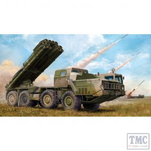 PKTM01020 Trumpeter 1:35 Scale Russian 9K58 'Smerch-M' on 9A52-2 Launch Vehicle
