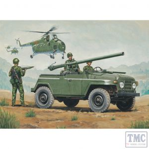 PKTM02301 Trumpeter 1:35 Scale BJ212A Chinese Jeep w/ 105mm Recoilless Rifle