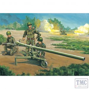 PKTM02303 Trumpeter 1:35 Scale 105mm Type 75 Recoilless Rifle w/ 3 figures