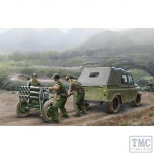 PKTM02320 Trumpeter 1:35 Scale PLA type 63 107mm Rocket Launcher & BJ212 Jeep
