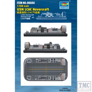PKTM06644 Trumpeter 1:350 Scale USN LCAC Hovercraft (qty 2)