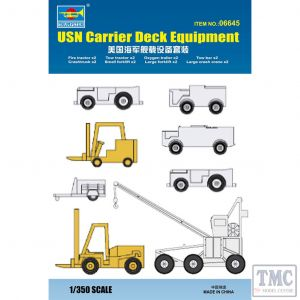 PKTM06645 Trumpeter 1:350 Scale USN Carrier Deck Equipment (8 types, 2 ea)