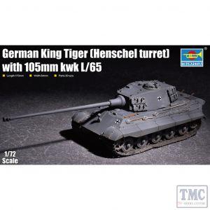 PKTM07160 Trumpeter 1:72 Scale German King Tiger (Henschel turret) w/ 105mm KwK L/65