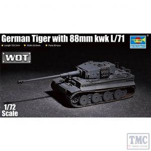 PKTM07164 Trumpeter 1:72 Scale German Tiger w/ 88mm KwK L/71